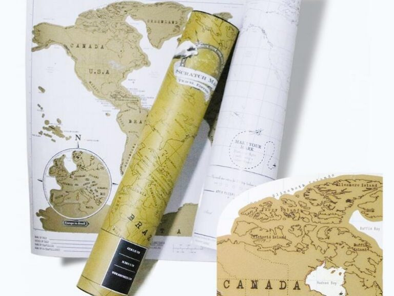 The best gold scratch off map of the world you should have